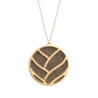 Tresse Necklace, Gold finish, Multicolored Glitter / Tangerine image number 1