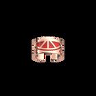 Bague Talisman, Finition dorée rose, Rouge orangé / Taupe Soft image number 1