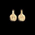 Boucles d' Oreilles Lotus, Dormeuses 16 mm, Finition dorée image number 1