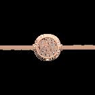 Pulsera de cadena Perroquet redondo 25 mm, Acabado dorado rosa image number 1