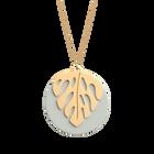 Monstera Necklace, Gold finish - Indigo / Eggshell image number 2