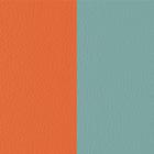 Cuir Orange Lilium / Bleu Nimbus image number 1
