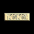 Decorative plaque Papyrus 40 mm, Gold finish image number 1
