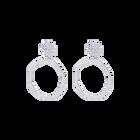 Boucles d'oreilles Nenuphar, Finition Argentée image number 1