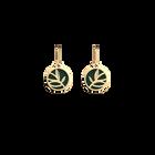 Boucles d'oreilles Dormeuses Arbre de Vie, Finition dorée, Argent / Vert Forêt image number 3