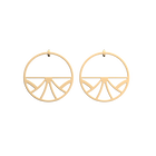 Papyrus Hoop 43 mm Earrings, Gold finish image number 1
