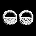 Boucles d'Oreilles Vibrations, Créoles 43 mm, Finition Argentée image number 1