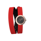Black Glitter / Red Wraparound Watch, Rose Gold finishes image number 3