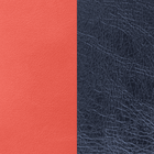 Leather insert, Coral / Navy Blue image number 1