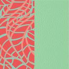 Patterned leather, Fern / Aqua image number 1