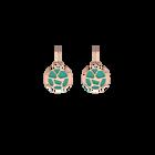 Boucles d'oreilles Dormeuses Girafe, Finition dorée rose, Rose Clair / Turquoise image number 2