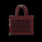 Burgundy Sac à Main Dentelle Bag, Ruban pattern -  Green Glitter lining image number 1