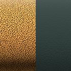 Leather insert - Bracelets & Bags, Copper / Dark Green image number 1