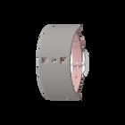 Bracelet Cuir Rose clair / Gris clair, boucle argentée image number 1