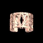 Manchette Lotus 40 mm, Finition dorée rose image number 1