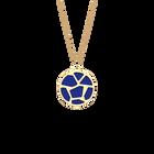 Collier Girafe, Finition dorée, Bleu Outremer / Rose Sirène image number 1