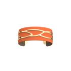 Plumage Bracelet, Gold finish, Multicolored Glitter / Tangerine image number 1