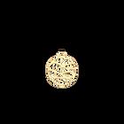 Pendentif Fougères Rond 25 mm, Finition dorée image number 1