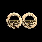 Boucles d'oreilles Créoles Fleurs du Nil, Finition dorée, Blush / Bronze image number 2