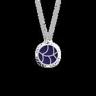 Courbe Necklace, Silver finish, Indigo / Eggshell image number 1