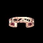 Ruban Bracelet, Rose gold finish, Black / Magenta image number 1
