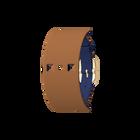 Bracelet Cuir Bleu Denim / Canyon, boucle dorée image number 1
