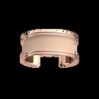 Manchette Pure Précieuse, Finition dorée rose, Bronze Cubique / Pêche Blanche image number 2