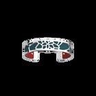 Nénuphar Bracelet, Silver finish, Raspberry / Petrol Blue image number 1