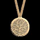 Collier Arbre de Vie, Finition dorée, Crème / Paillettes dorées image number 2