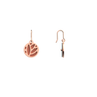 Boucles d'oreilles Dormeuses Lotus, Finition dorée rose, Terracotta / Bleu Lagon image number 3