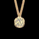 Collier Perroquet, Finition dorée, Vert d'eau / Paillettes argentées image number 1
