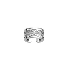 Faucon Ring, Silver finish, Black / White image number 2