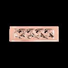 Bijou de sac Tresse 40 mm, Finition dorée rose image number 1
