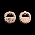 Boucles d'Oreilles Vibrations, Créoles 30 mm, Finition Dorée rose image number 1
