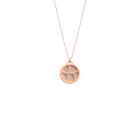 Collier Courbe, Finition dorée rose, Nude / Aquatic image number 1