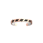 Manchette Ruban, Finition dorée rose, Noir / Blanc image number 1