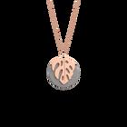 Monstera Necklace, Rose gold finish, Light Pink / Light Grey image number 2