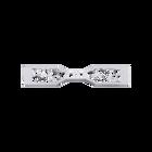 Decorative plaque Arabesque 25 mm, Silver finish image number 1
