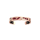 Ruban Bracelet, Rose gold finish, Black / Magenta image number 2