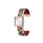 Arabesque Watch, Rose Gold finish, Soft Raspberry / Multicoloured Glitter image number 2