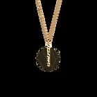 Collier Martelle, Finition dorée, Rayures / Argile Rose image number 2
