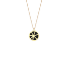 Solaire Necklace, Gold finish, Black / White image number 1