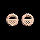 Boucles d' Oreilles Ruban, Créoles 30 mm, Finition dorée rose image number 1