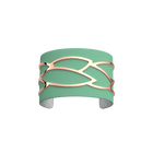 Plumage Bracelet, Rose gold finish, Aqua / Silver Glitter image number 1