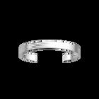 Bracelet Horizontale 14 mm, Finition argentée satinée image number 1