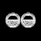Ruban Hoop 43 mm Earrings, Silver finish image number 1