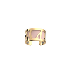 Perroquet Ring, Gold finish, Light Pink / Light Grey image number 2