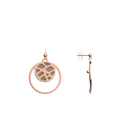 Fougères Double Round 16mm Earrings, Rose Gold finish, Cream / Gold Glitter image number 4