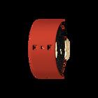 Bracelet Cuir Paillettes Noires / Rouge, boucle dorée image number 1
