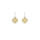 Poisson Sleeper Earrings, Silver finish, Sun / Navy Blue image number 1